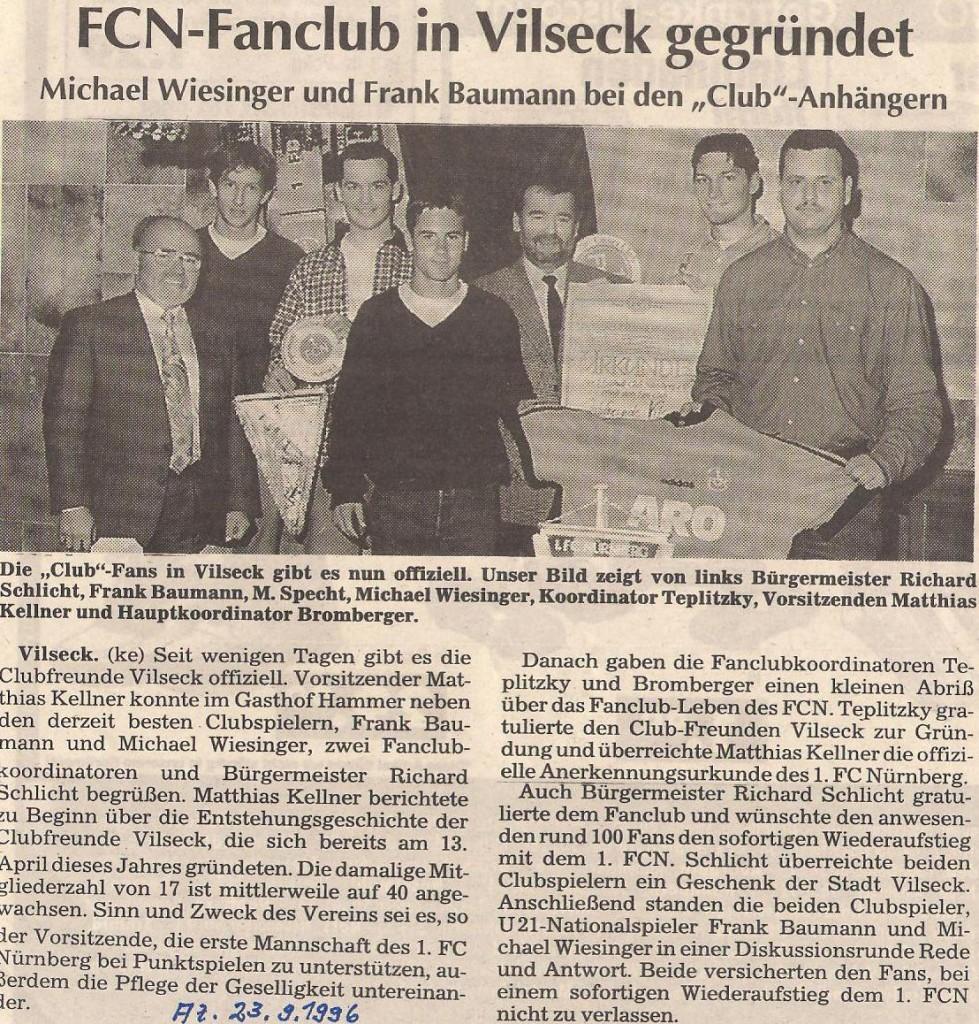 AZ- Artikel Gründungsfeier 1996